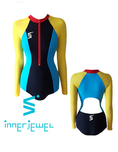 Colored Zip Up RashGuard
