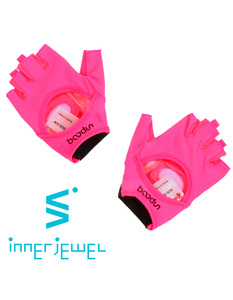 Neon Pink leather Fitness Gloves