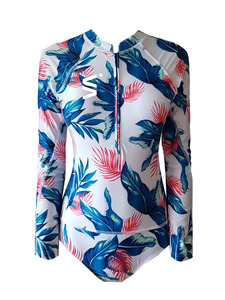 Big Flower Patten Jumsuit Rashgaurd
