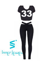 33 Crop Top and Leggings Set_BK (자체제작)